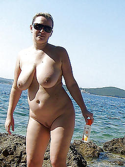 mature lady nude beach stripping