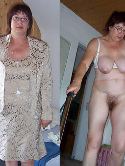 matures dressed and stripped tease