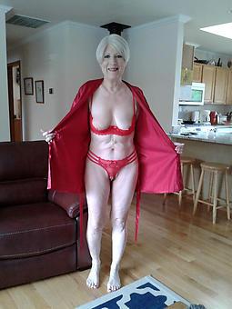nice dispirited mature landowners in lingerie pics