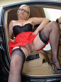 curvy elegant ladies in stockings