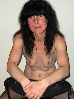 unassuming mature concerning pithy tits stripping
