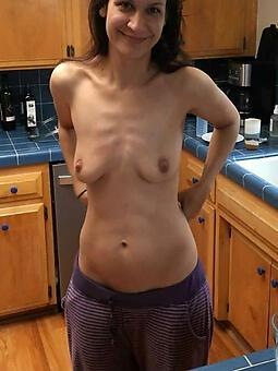 scrawny moms unadorned stripping