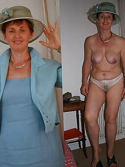 X full-grown lady dressed plus undressed