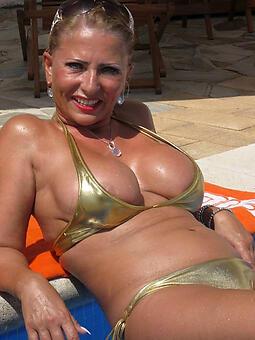 mature bikini models stripping
