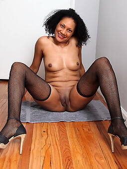 hot sweltering pitch-black moms stripping
