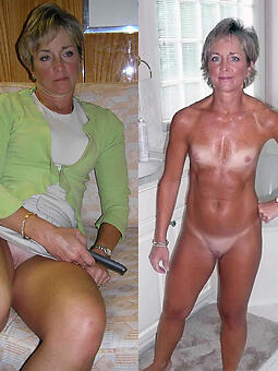 cougar moms dressed added to undressed