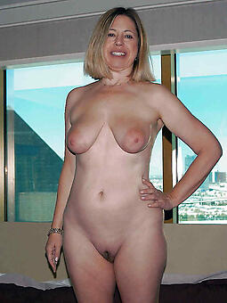 unsophisticated old lady with saggy tits porn